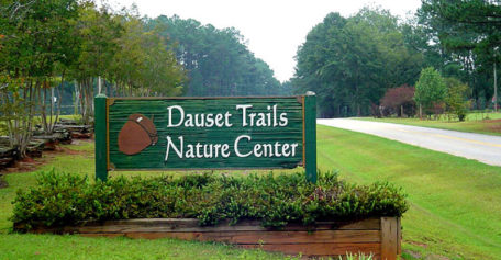Sign for Dauset Trails Nature Center
